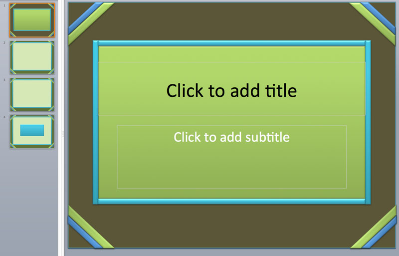 green powerpoint templates