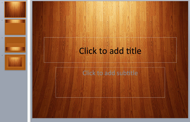 wood material powerpoint templates