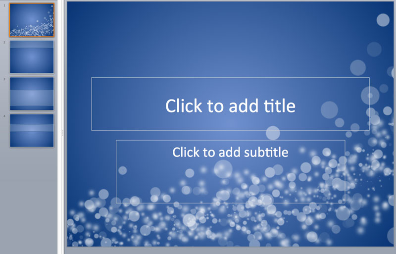 blue bubble powerpoint template