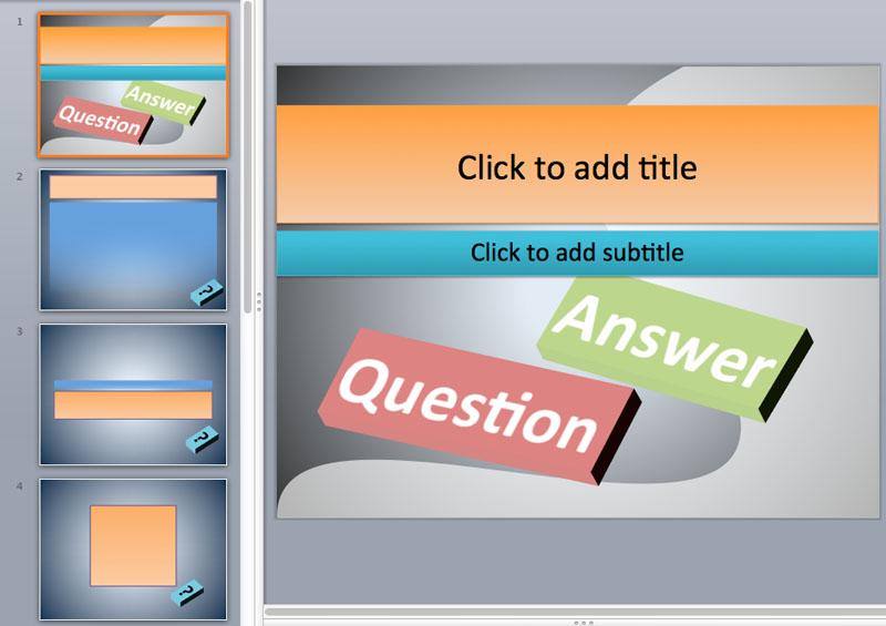 question and answer ppt templates