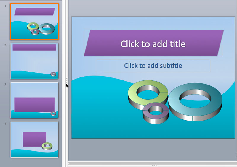3D powerpoint templates