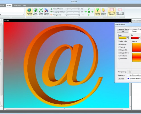 Podium 3D Text Studio