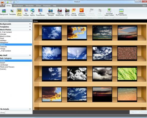 PowerPoint Podium Stock Photos