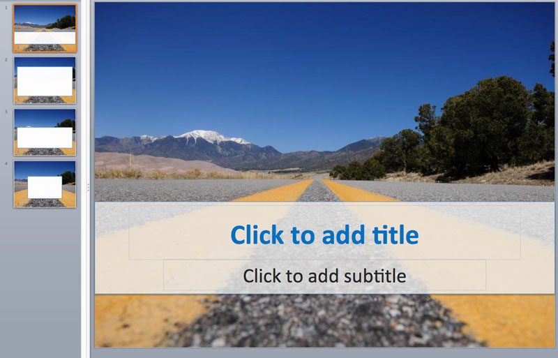 road nature powerpoint templates