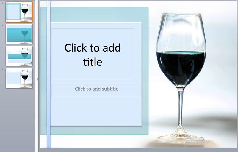 wine glass powerpoint templates