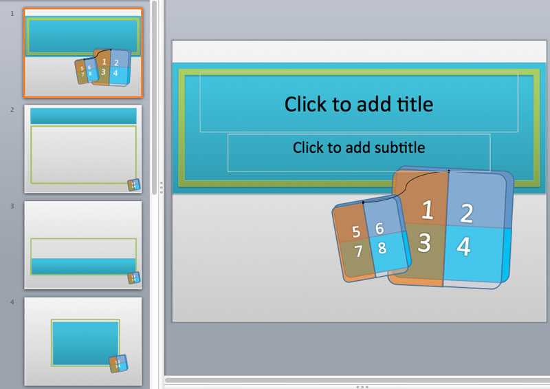Numbered PowerPoint Templates