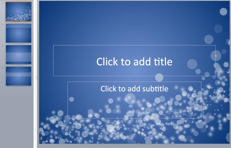 blue bubble powerpoint template
