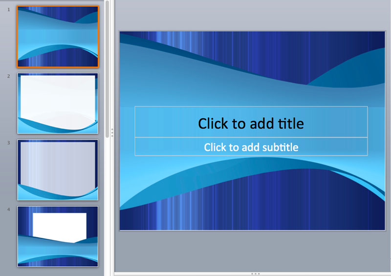 Blue and White PowerPoint Templates