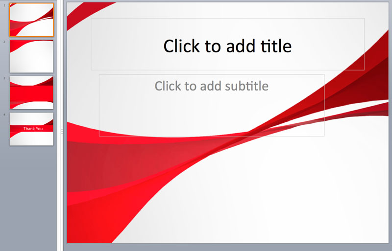 red color powerpoint templates