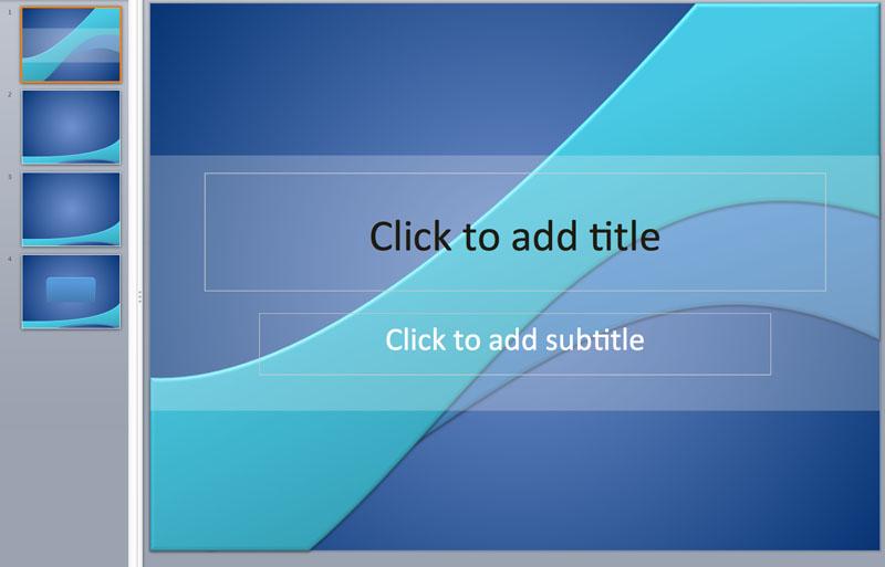 blue powerpoint template
